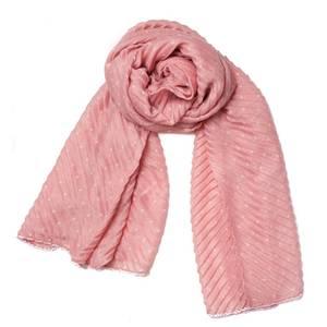 Bilde av Plizze skjerf med prikker - pudder rosa