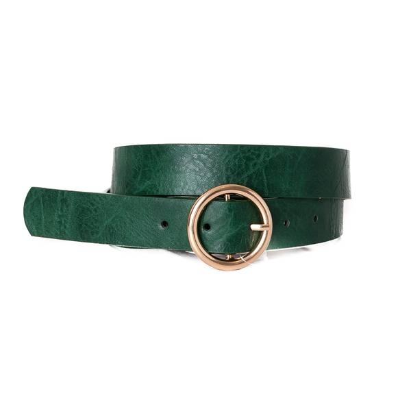 Belte med ring - grønn