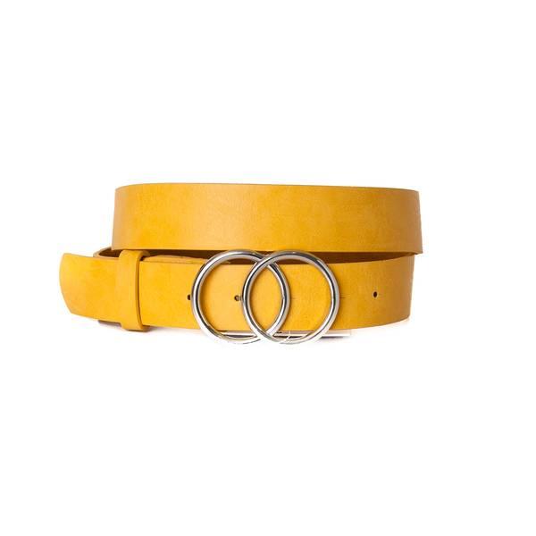 Belte med dobbel ring - gul