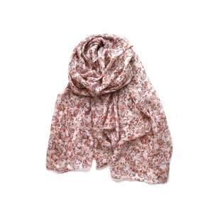 Bilde av Skjerf med blomster og glitter - rosa