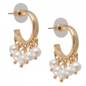 Bilde av Isabel gull perle hoops