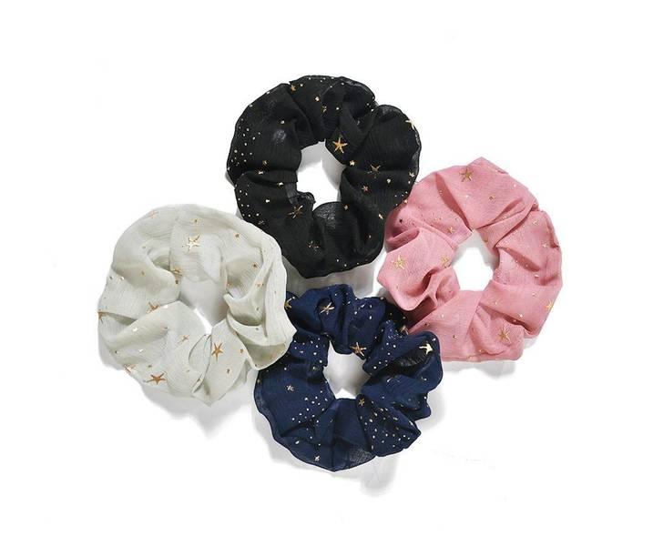4 stjerne scrunchies