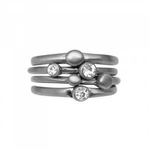 Bilde av Tihomira fire rhodium krystall ringer