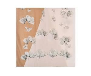 Bilde av Beige blomster skjerf