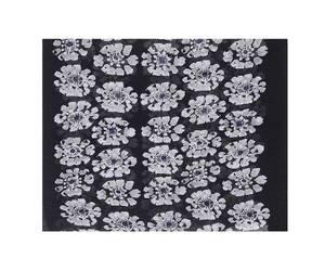 Bilde av Sort plissert blomster skjerf