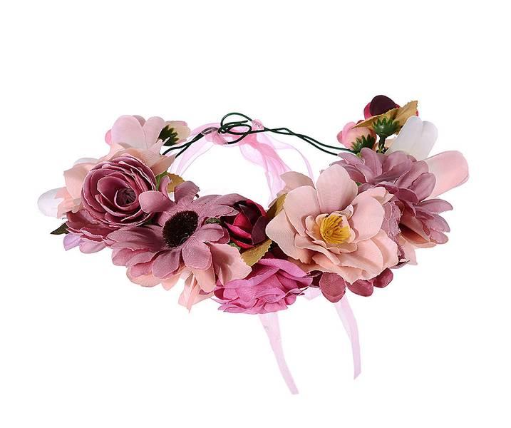 Rosa blomsterkrans