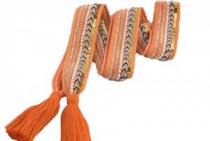 Bilde av Oransje knytebelte med dusk