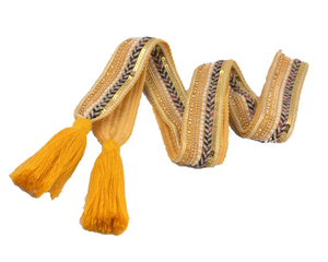 Bilde av Gult knytebelte med dusk