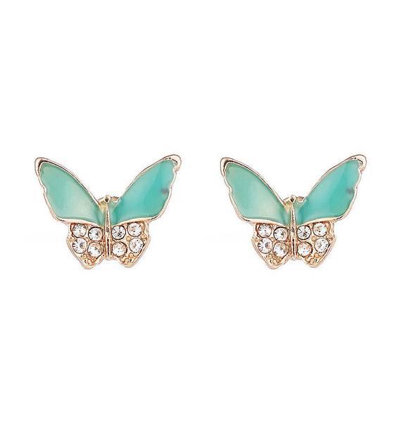 Aqua sommerfugler studs