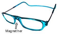 Brillo Brille m/magnetf. Lys blå