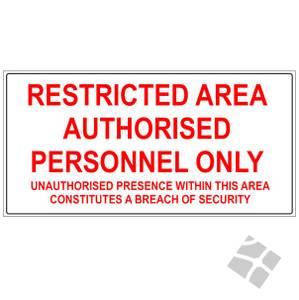 Bilde av Restricted area ISPS code -