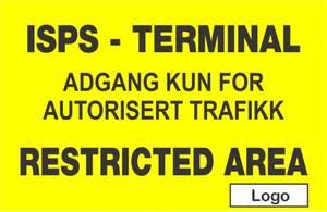 Bilde av ISPS Terminal - skilt