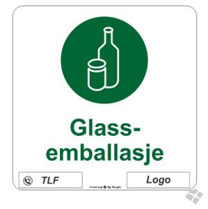 Bilde av Klebemerke Glass emballasje