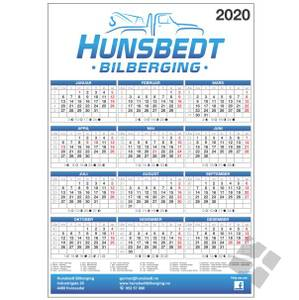 Bilde av Veggkalender med logo A3 - 50
