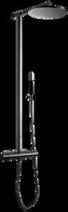 Bilde av Tapwell TVM300 takdusj Black Chrome