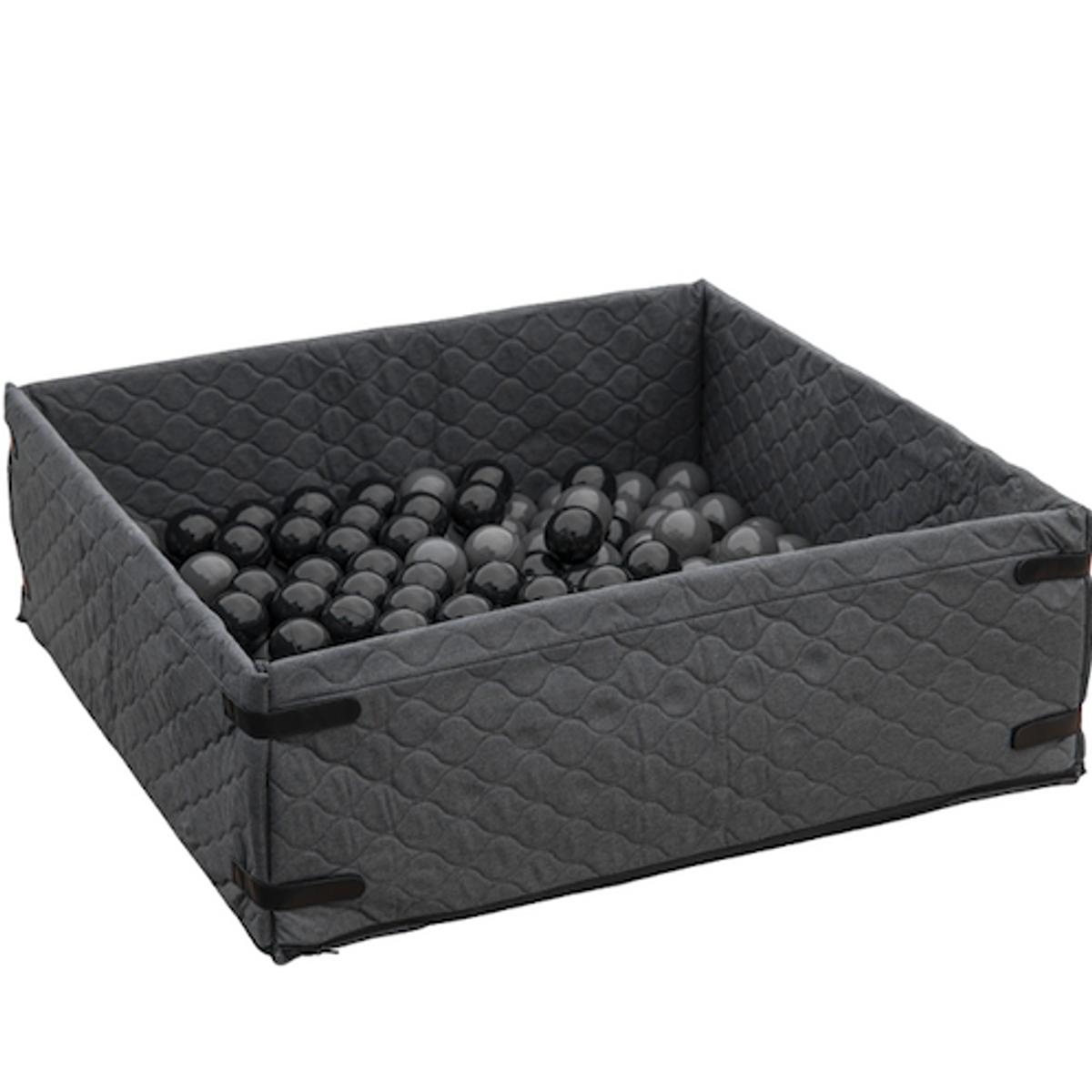 Ballbinge 1m x 1m inkl. 200 baller   Grå melange