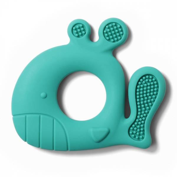 Bilde av Babyono Bitering silikon, Whale Pablo, blå