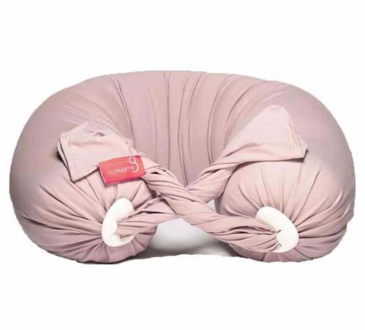 bbhugme gravid- og ammepute Pillow DUSTY PINK/VANILLA