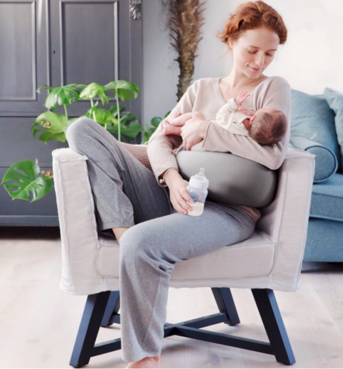 bbhugme gravid- og ammepute STONE/PLUM