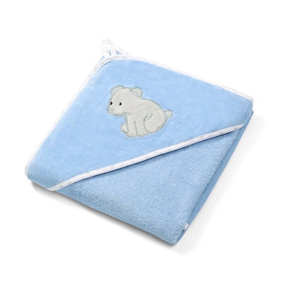 Babyono Hettehåndkle Soft Blå 85x85 cm.