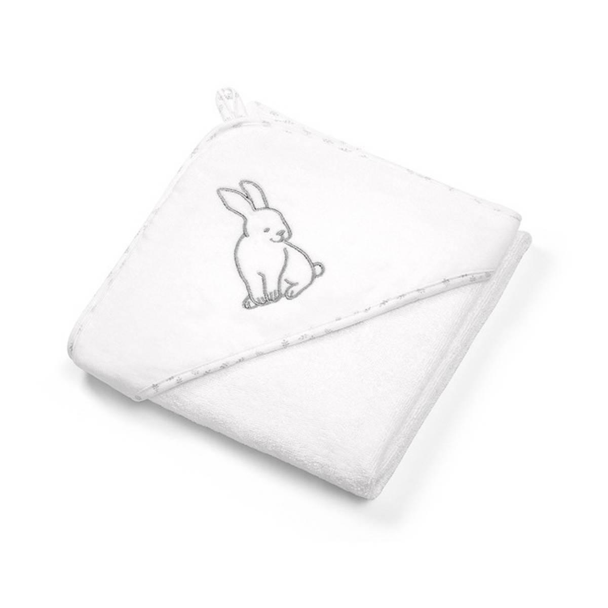 Babyono Hettehåndkle Soft Hvit 76x76 cm.
