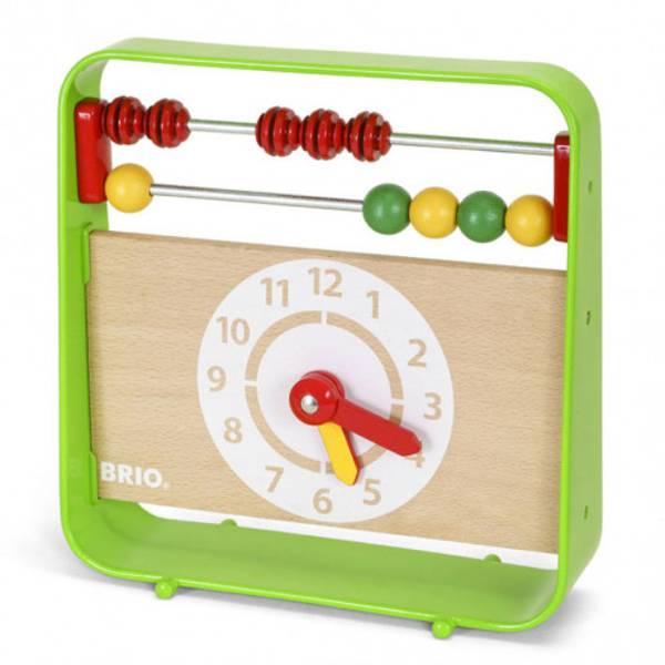 Bilde av BRIO Kuleramme med klokke | Grønn