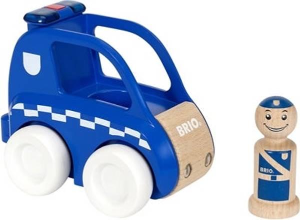 Bilde av BRIO Politibil med lys og lyd | Blå