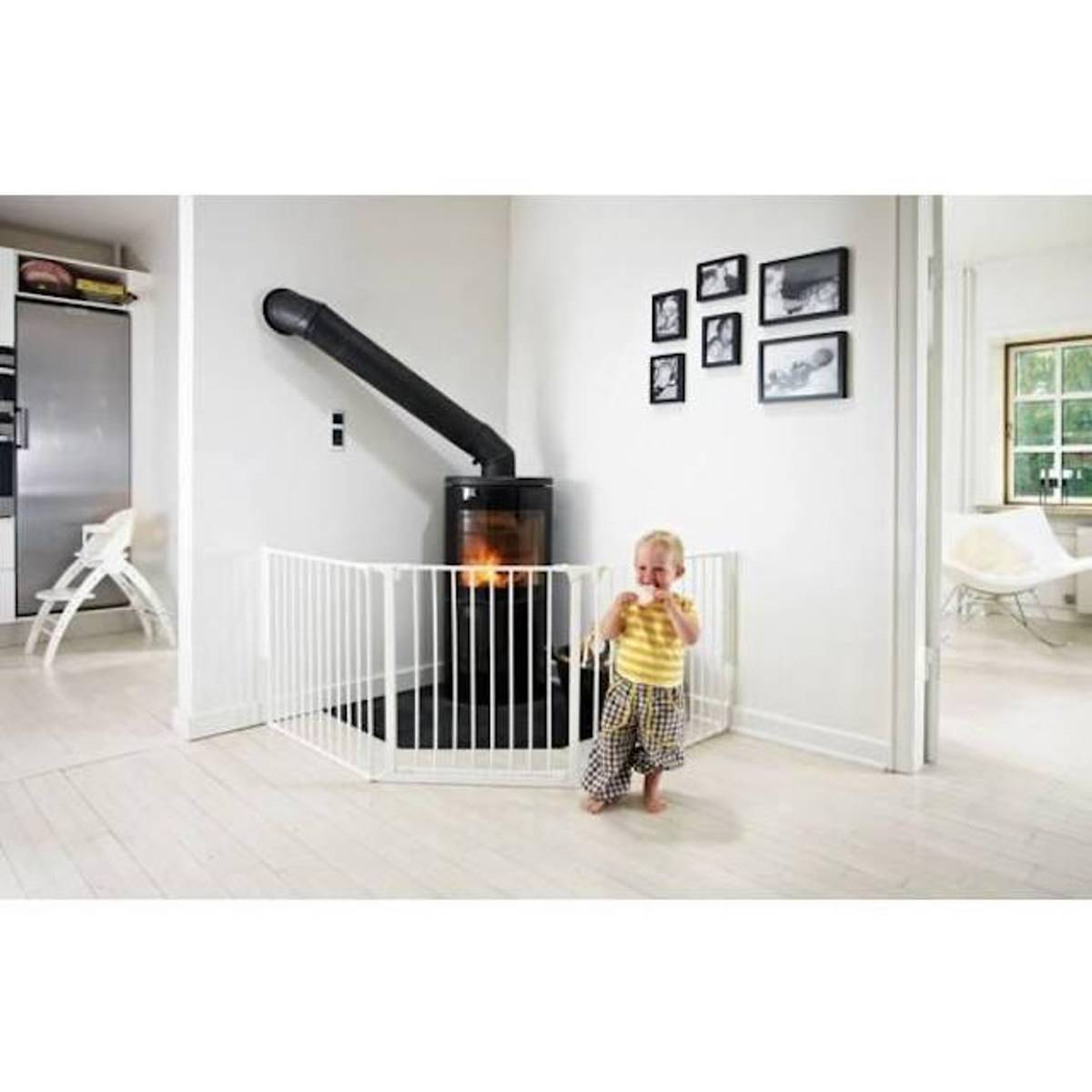 BabyDan OLAF Peisgrind X | 90 - 223 cm | Hvit