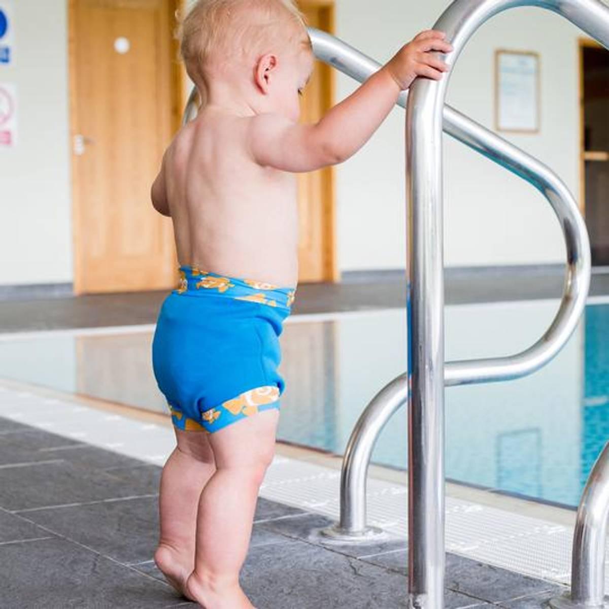 Konfidence Svømmebukse til Baby | Cyan/Clownfish | Small