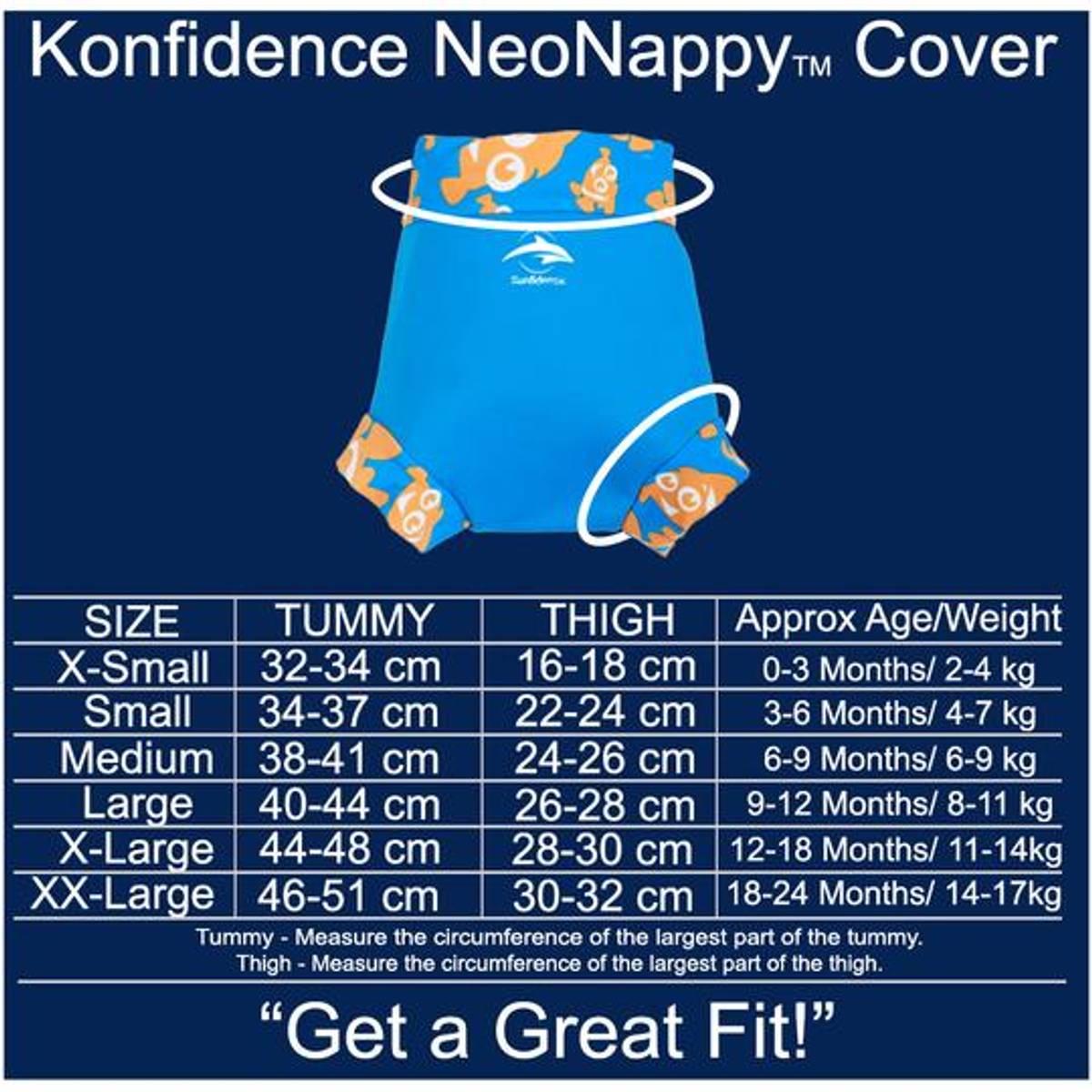 Konfidence Svømmebukse til Baby | Cyan/Clownfish | XX-Large