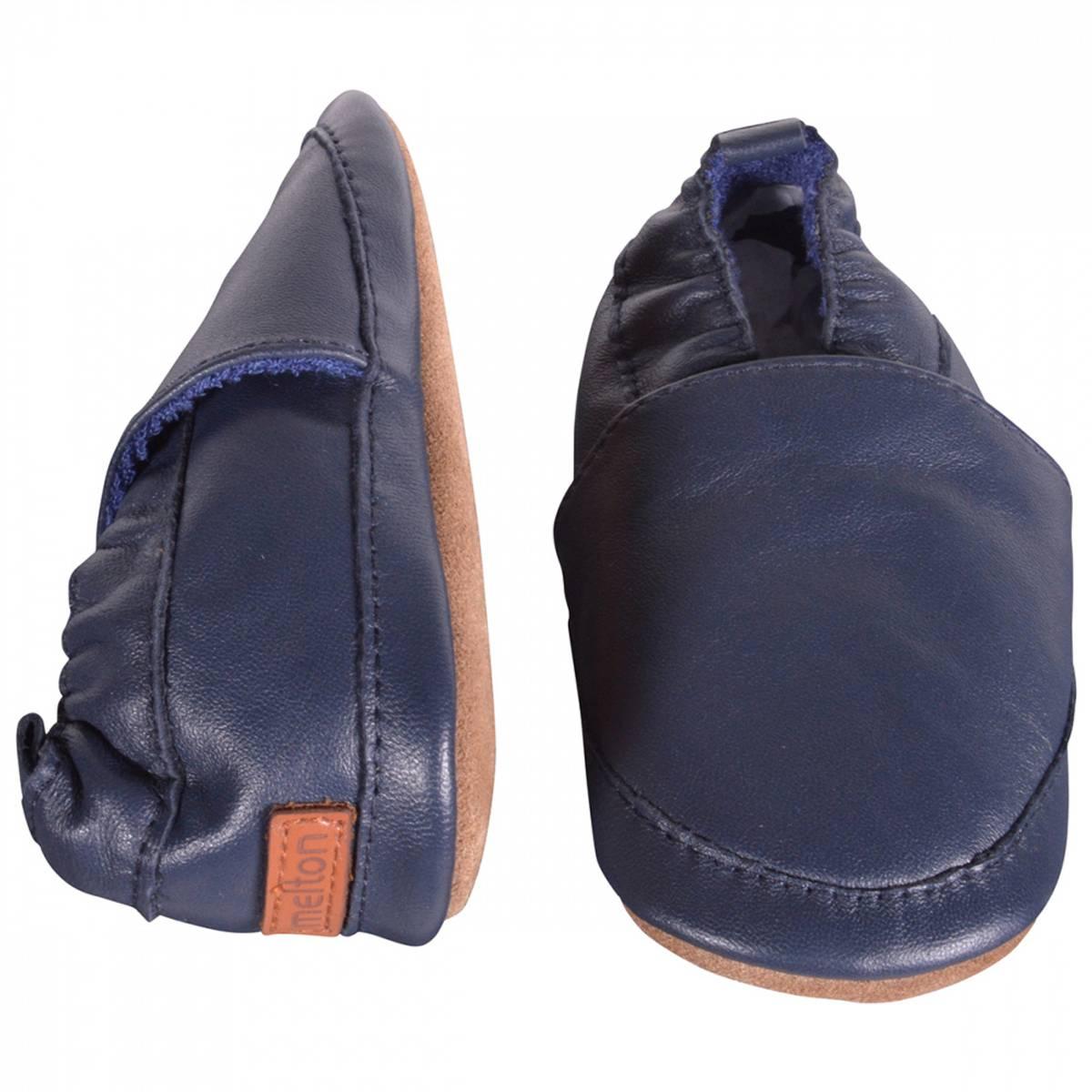 Melton Skinn tøffel | Loafer | blue nights