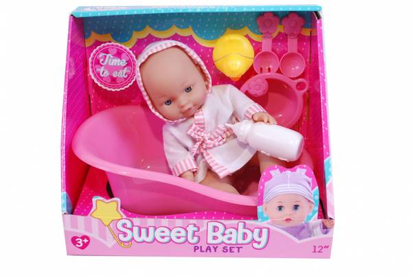 Bilde av Sweet Baby   Dukkesett Med badekar