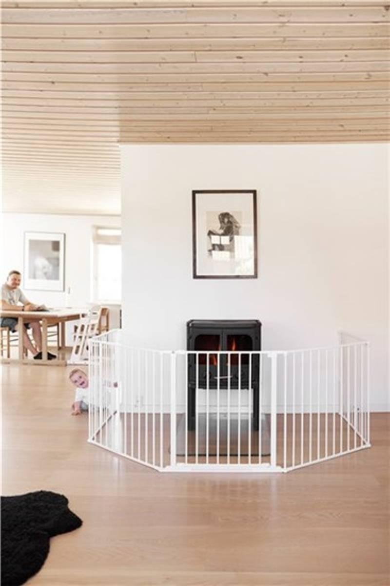 BabyDan OLAF Sikkerhetsgrind XXX | 90-350 cm | Veggmontert | Hvi