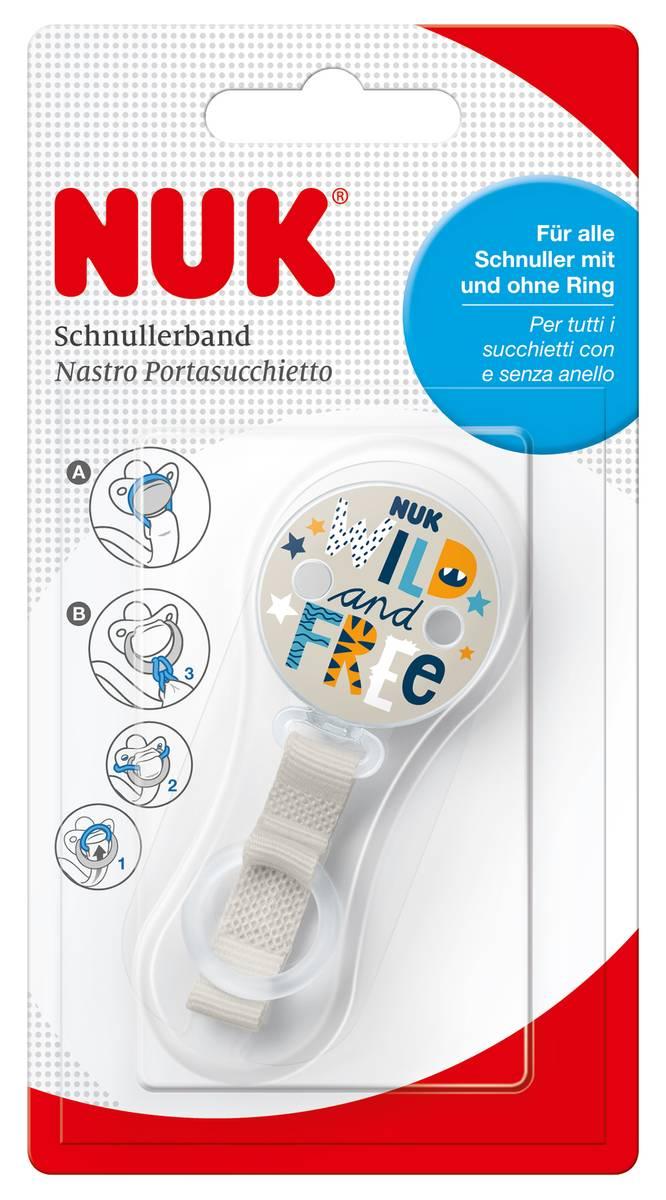 NUK Pacifier Band Wild & Free | Beige | 0 mån+
