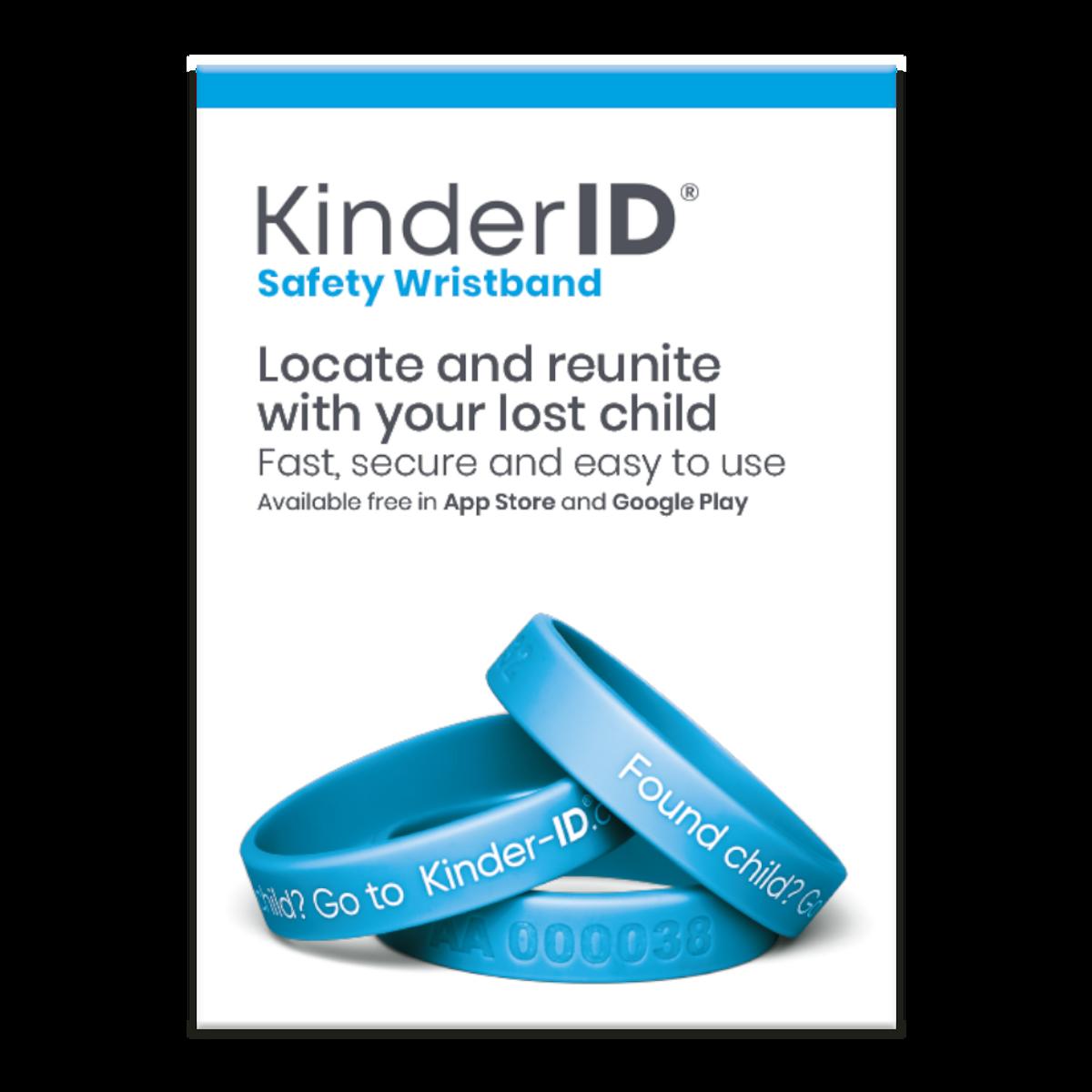 KinderID Armbånd | Blå