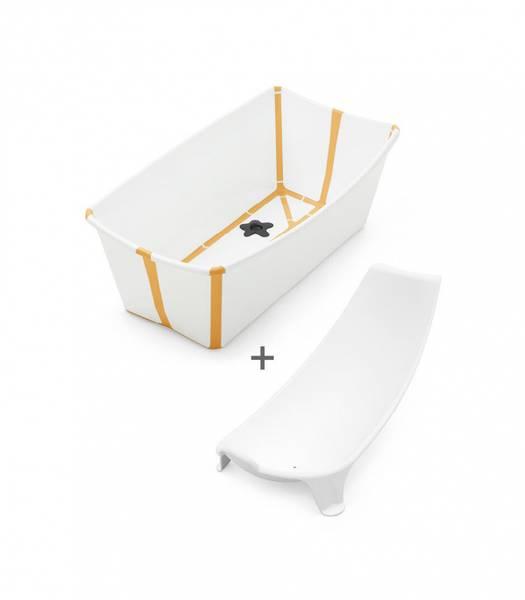 Bilde av Stokke FLEXI BATH V2 Bundle | White Yellow