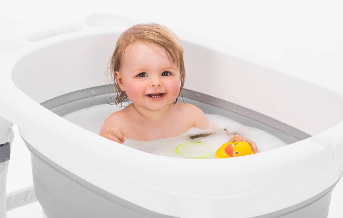 Fillikid Vario sammenleggbar badebalje   100L   Grå & Hvit