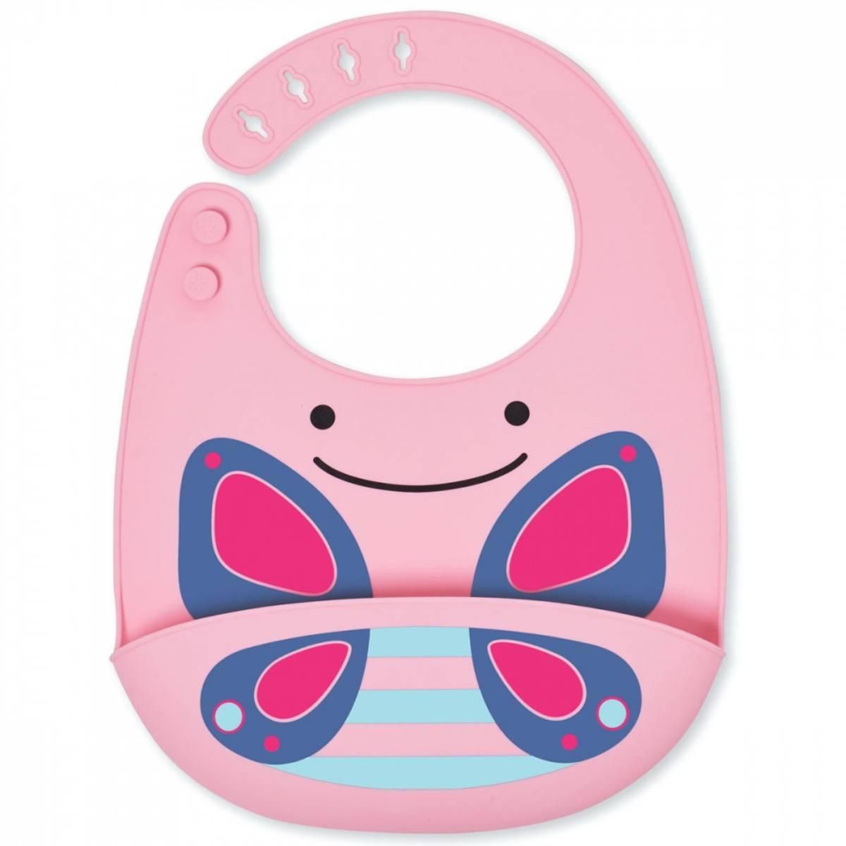 Skip Hop Zoo Fold&Go Silicone Bib Butterfly