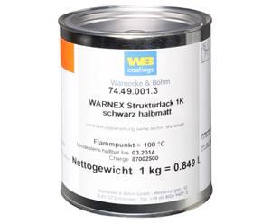 Bilde av Warnex Tekstur Lakk 1 kg Sort