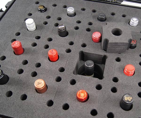HPRC Vinkoffert til 24 Vinflasker Sort 810x585x388 mm