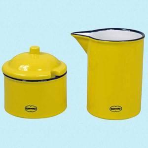 Bilde av Sukker-og melk sett gult