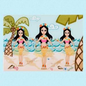 Bilde av 3D kort Hula girls