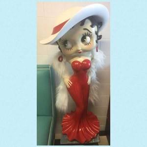 Bilde av Betty Boop figur med hatt