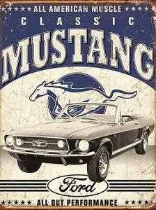 Bilde av Metallskilt Classic Mustang