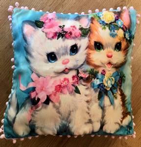 Bilde av Pute med 2 katter