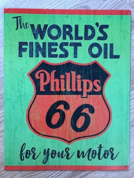 Metallskilt Phillips 66