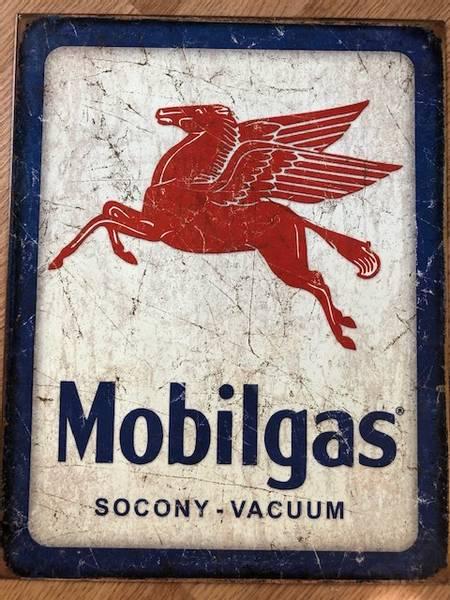 Metallskilt Mobilgas