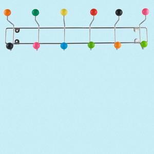 Bilde av Knaggrekke lang fargede kuler