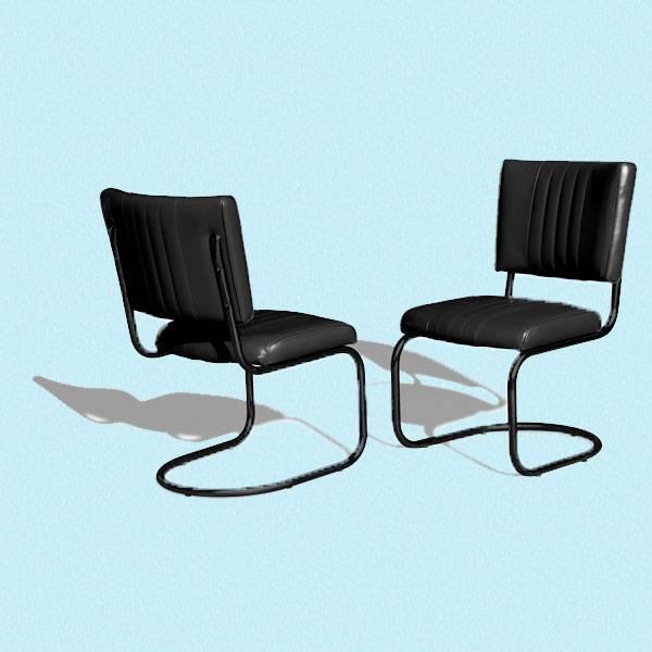 Diner stol i helsort (CO 28)