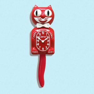 Bilde av Kit-Cat klokke Scarlet